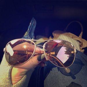Burberry Aviator Polarized Sunglasses